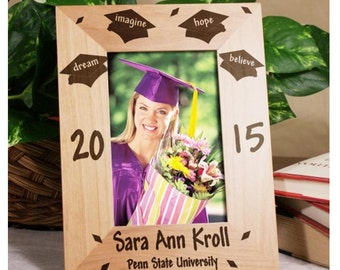 Dream Graduation Engraved Wood Frame