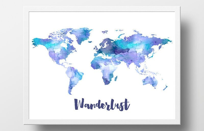 Pink and gold canvas wall artmarble rose gold marble metallic world map print watercolor wanderlust print world map gumiabroncs Images