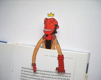 Hellboy bookmark - comic book movie Mignola printable instant download