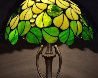 Table Lamp, Tiffany Lamp, Kitchen Light, Reading Lamp, Library Lights, Reading Light, Desk Lamp, Stained Glass Lamp, Stained Glass Art