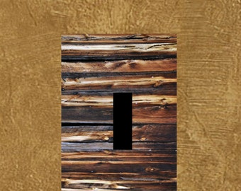 Rustic barnwood image Light Switch plate cover wall art home decor _ many sizes available Country scene modern rustic Art
