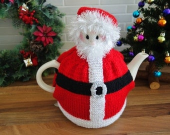 Knitted Father Christmas Tea Cosy - Tea Cozy (Made to Order)