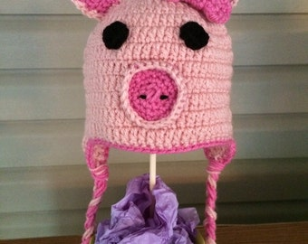 Crocheted Piggy Hat