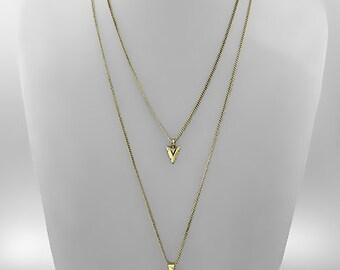 Arrow Head Charm & Raw Amethyst Stone Necklace
