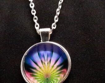 Light Spikes Fractal Necklace