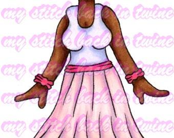 Digital pre- coloured image - Ballet Charlee . jpeg / png
