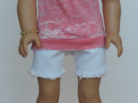 White Denim Shorts - American Girl Doll Clothes