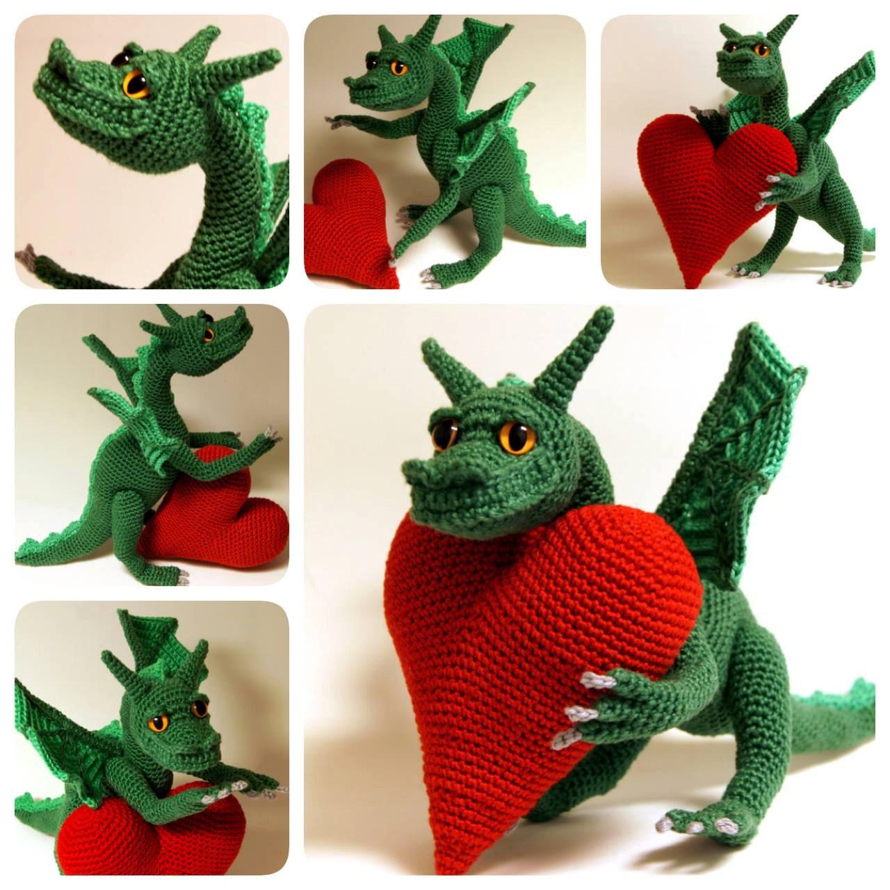 Free Crochet Stuffed Dragon Pattern : Crochet dragon crochet fantasy amigurumi dragon Dragon of
