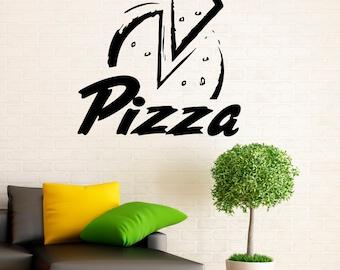 Pizza Decal Etsy - Vinyl stickers design