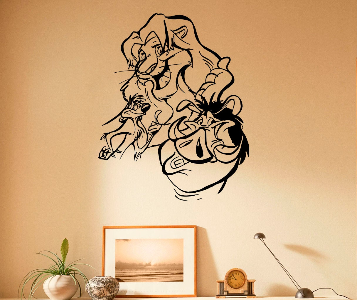 the lion king wall decal vinyl stickers hakuna matata home. Black Bedroom Furniture Sets. Home Design Ideas