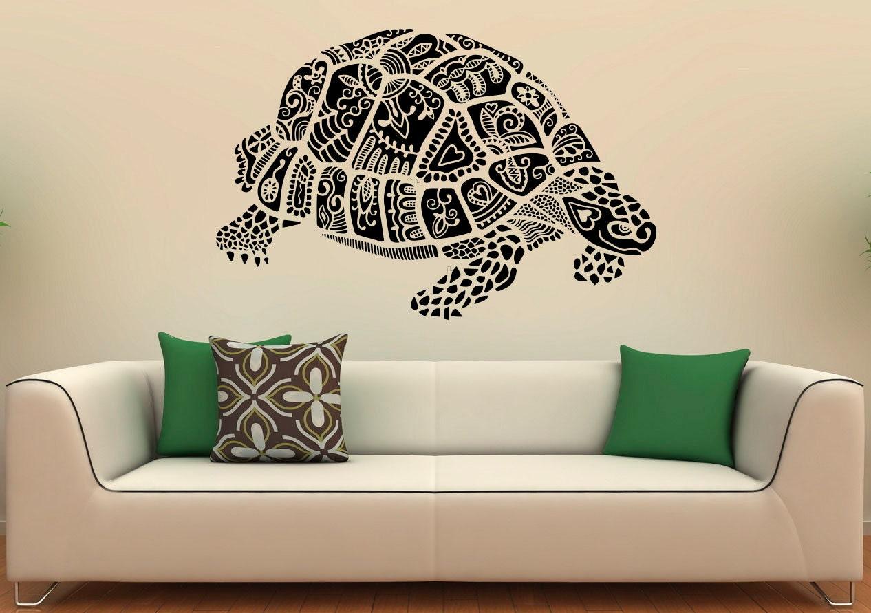 Sea turtle wall decal vinyl stickers sea animals home interior zoom amipublicfo Gallery