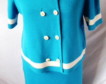 1960s' Vintage Ladies French Woolen Two Piece