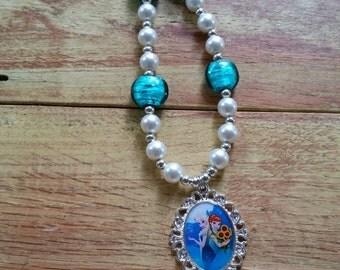 Princess Elsa & Anna Frozen Fever Necklace, Elsa Anna Necklace, Frozen Necklace, Elsa, Anna, Frozen Fever, Waterproof pendant
