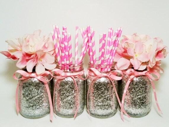 mason jars centerpieces baby shower decor mason jar wedding glitter
