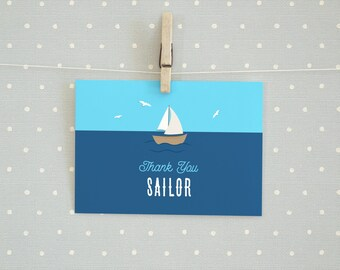 Sailor & Nautical Themed Thank You Card/PostCard