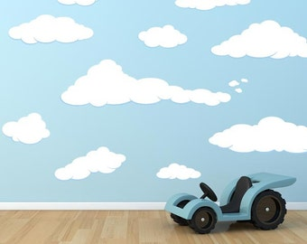 Peaceful Cloud Wall Decal Set of 13