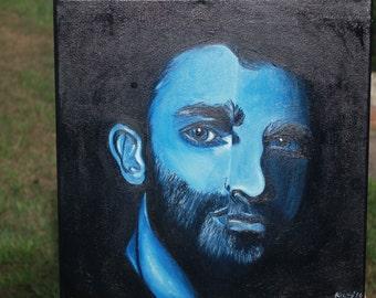 Original Oil Painting Teen Wolf inspired Derek Hale character fan art artwork