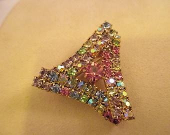 Multi-Color Rhinestone Brooch. Item:BP818420