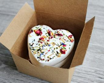 Flower Petal Bath Bomb Fizzies Set --  Gift Set of 3
