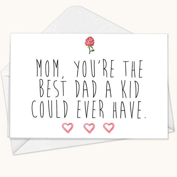 Mom Fathers Day Card Mom Card Fathers Day Card