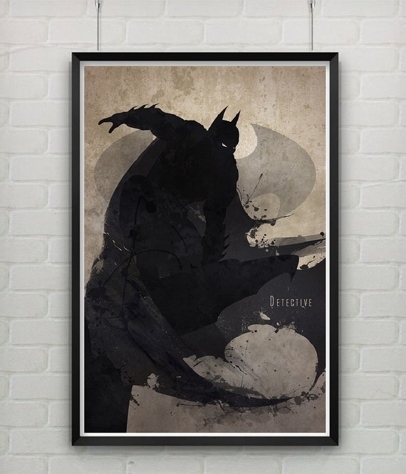 Batman the dark knight home decor graphic poster by for Dark knight mural