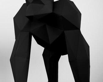 Gorilla paper model kit