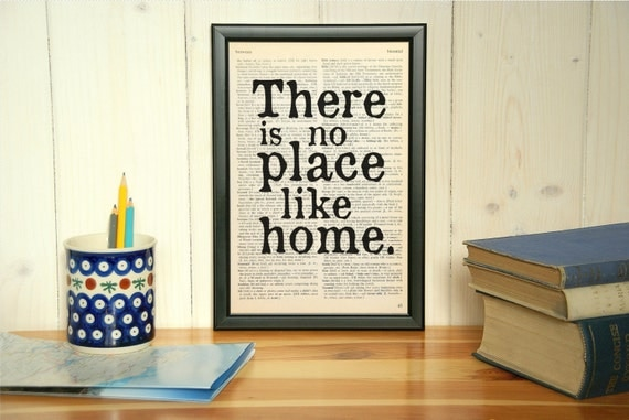items similar to wizard of oz there is no place like home framed book quote print birthday. Black Bedroom Furniture Sets. Home Design Ideas