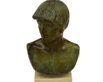 Apollo statue bust bronze sculpture