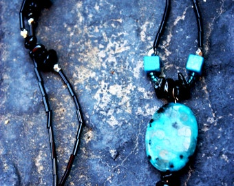Tribal Turquoise Shell Necklace