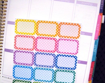 Rounded Corner Polkadot Planner Stickers