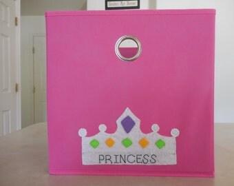 Pink Princess Custom Storage Bin