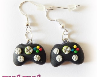 Video Game Earrings, Gamer Gifts, Gamer Earrings, Video Game Charms, Geek Jewelry, Girl Gamer, Nerd Items, Clay Jewelry, Gamer Charms
