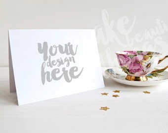 5x7 or A6 Card mockup / Styled stock photography / Instant download /