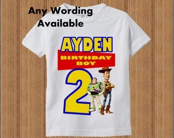 Toy Story Birthday Shirt - Toy Story Boys Birthday Shirt