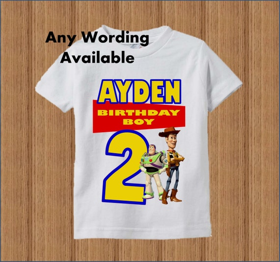 toy story birthday shirt toy story boys birthday shirt
