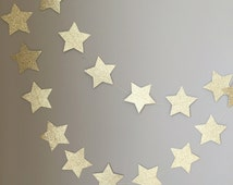 Twinkle Twinkle Little Star Gold Glitter Star Garland, First Birthday, Baby Shower, Twinkle Twinkle Little Star Decor, Birthday Decor, Gold