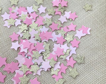 Twinkle Twinkle Little Star Pink, Gold Glitter Confetti, First Birthday Decor, Baby Shower, Bridal Shower, Party Decorations, Table Scatter