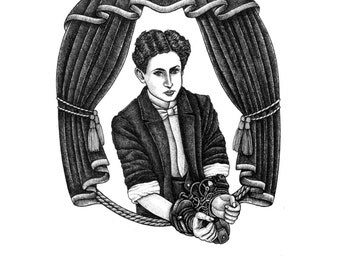 Harry Houdini A5 Print