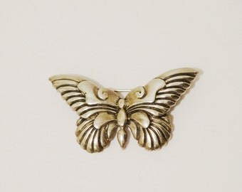 Sterling Heavy well made Vintage Butterfly.