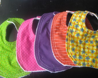 Cotton and terry cloth bibs