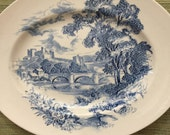Vintage Wedgwood | Blue Transfer Ware | Countryside by Wedgwood | Genuine Hand Engraving | 1964 | Mother's Day | Gift for Her | Downton