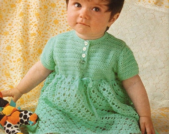 Baby Crochet Pattern Crocheted Dress