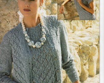 Ladies Twinset Knitting Pattern