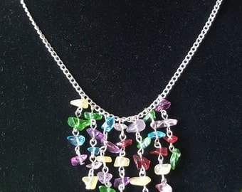 Glass crystal multicoloured necklace