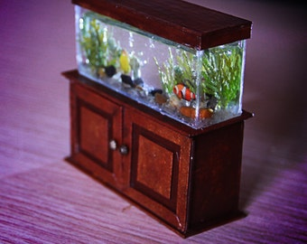 Miniature, Dollhouse Miniature, miniature aquarium 1/12