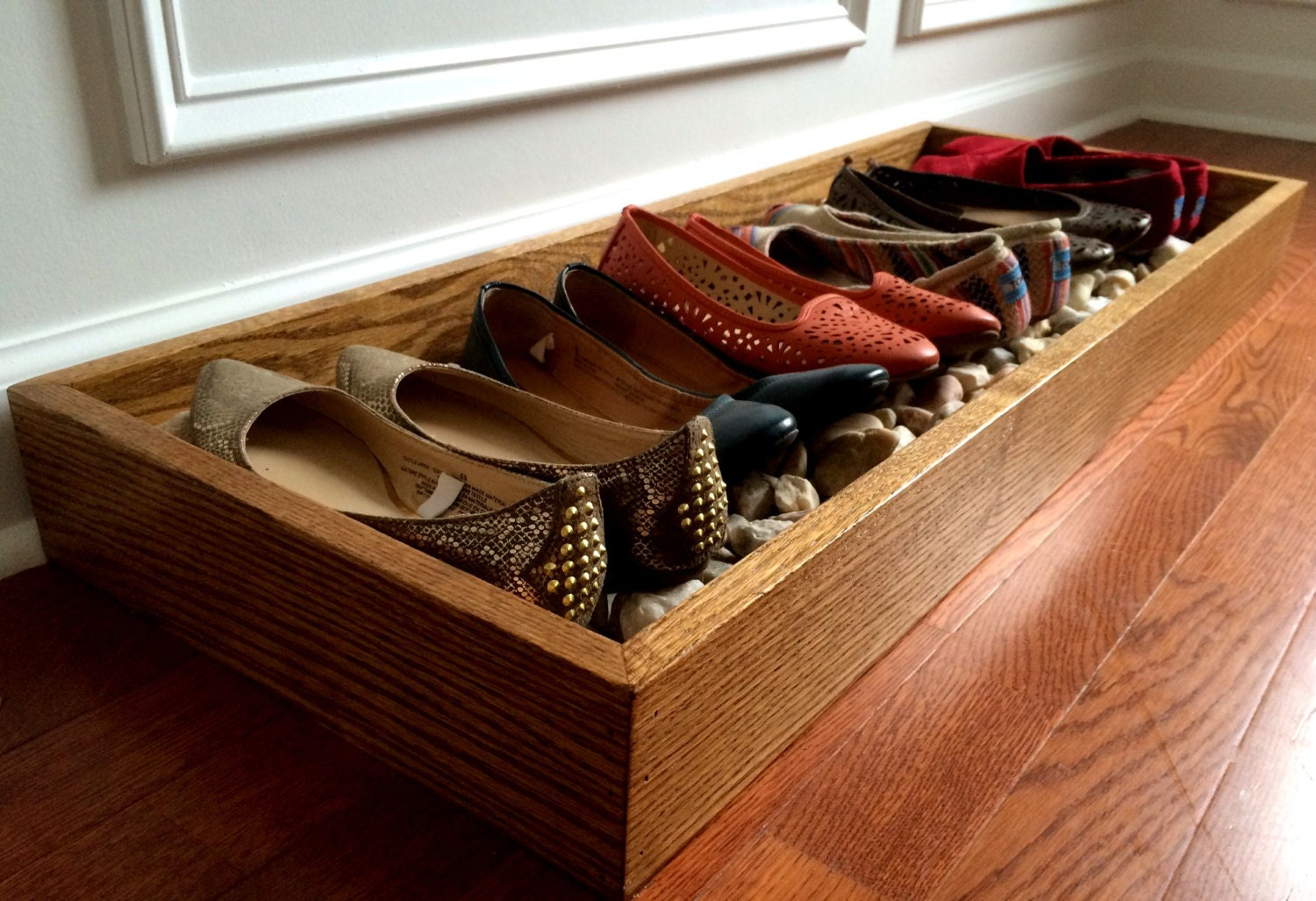 oak wood shoe rack shoe and boot tray shoe by simplerhome