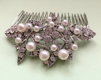 bridal comb, wedding hair comb, wedding comb, bridal hair comb, wedding hair accessories, vintage comb, pearl bridal comb, crystal comb