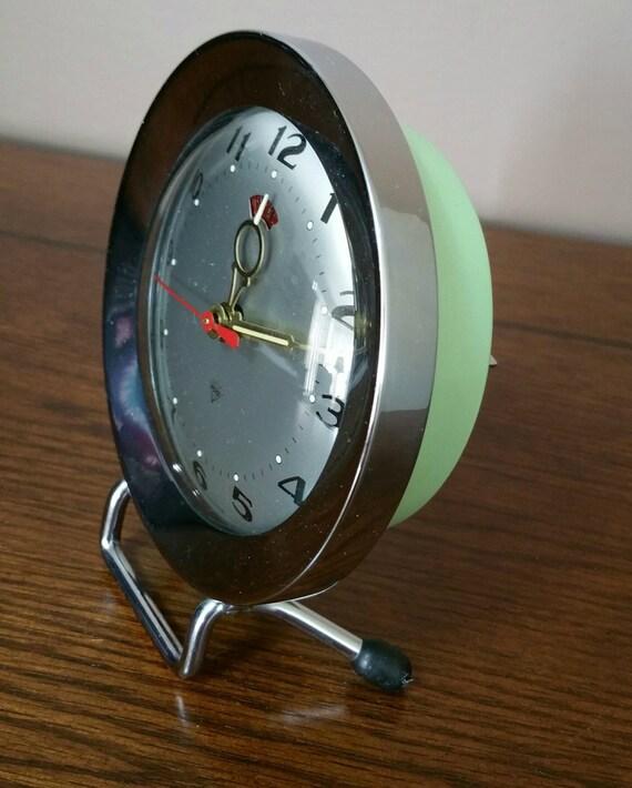 Vintage Wind Up Alarm Clock 1970s Retro Alarm By Emptynestvintage