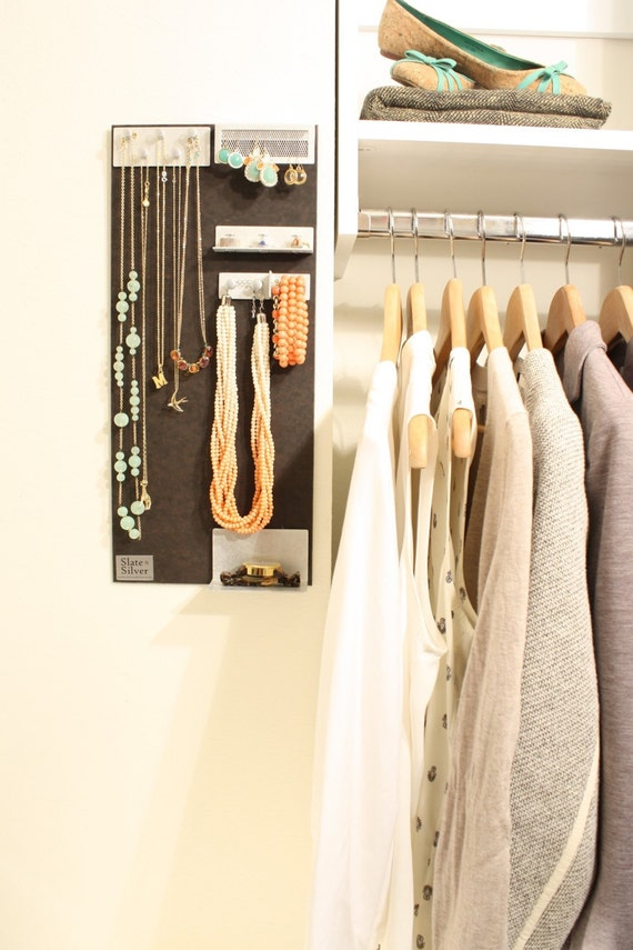 Modern jewelry organization and display board 18x8 by ... - photo#30
