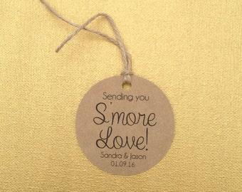 Smore Wedding Favor, Wedding Favor, Smore Favor Tags, Wedding Favor Tags, Smore Tags, Smore Love
